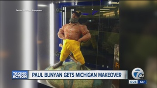 michigan gives paul bunyan trophy a makeover wxyzcom