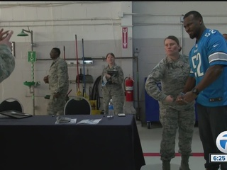 Lions visit active military members and families