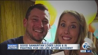 Good Samaritan loses legs after helping woman