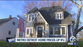 home sale prices increasing in metro detroit