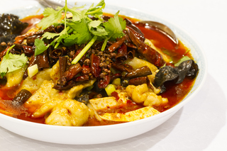 Local Sichuan food, chinese cuisine with a kick