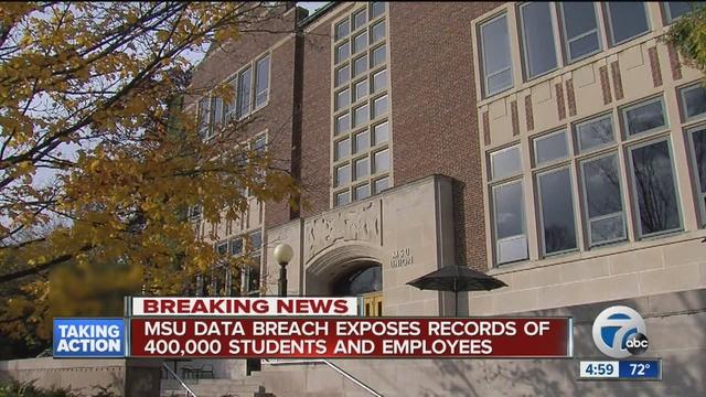 Michigan State University reports data breach of 400000 records