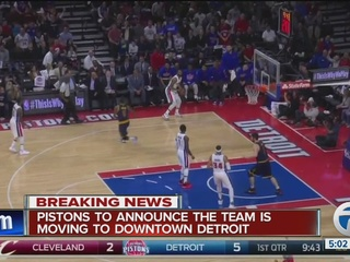 Sources: Pistons to announce move to Detroit