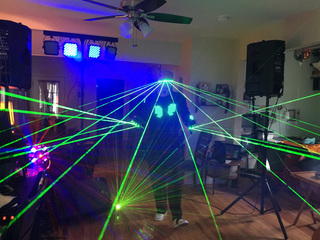 VIDEO: Local performer shows off wearable lasers