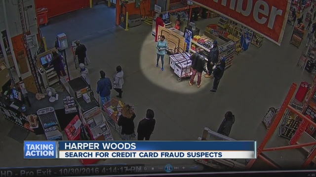 Man and woman caught on video using fraudulent credit for 0 home depot credit card
