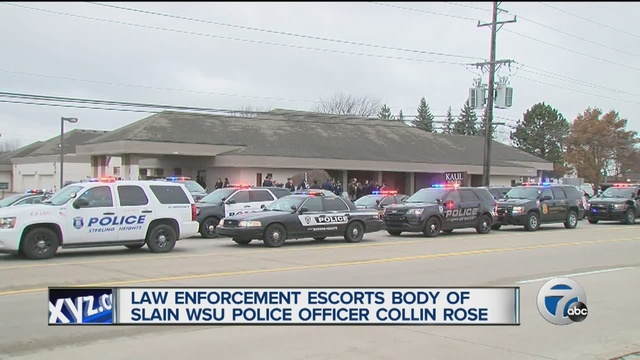 story news enforcement escort slain officer home