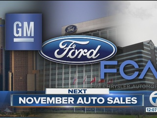 Ford, GM sales up in November; FCA sales fall