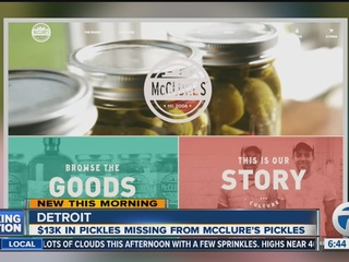 Thousands of dollars in McClure's pickles stolen
