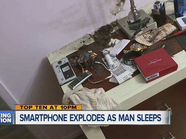 Man's Samsung Note 4 phone explodes while he sleeps