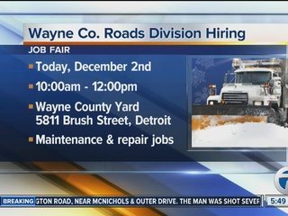Wayne Co. Roads Division hiring nearly 30