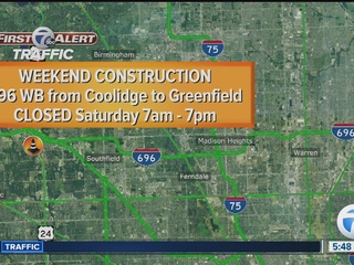 WB I-696 closing Saturday, EB lanes on Sunday