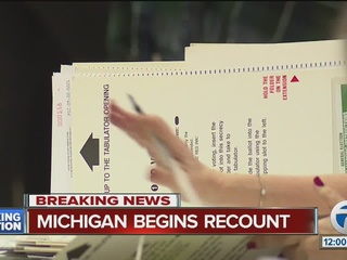 Schedule released for recount in Michigan