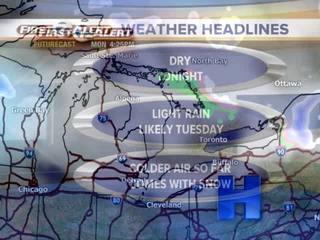 FORECAST: Light rain likely Tuesday