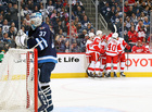Red Wings erase deficit, beat Jets in shootout
