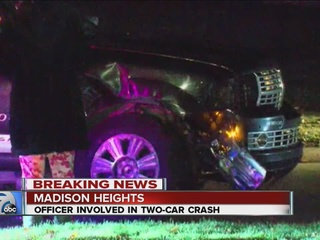 Madison Heights police officer involved in crash