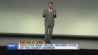 Hackel gives State of Macomb County speech