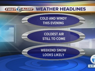 FORECAST: Cold air, then snow on the way