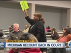 Federal judge weighs whether to end MI recount