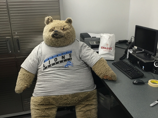 Stolen teddy bear mascot returned