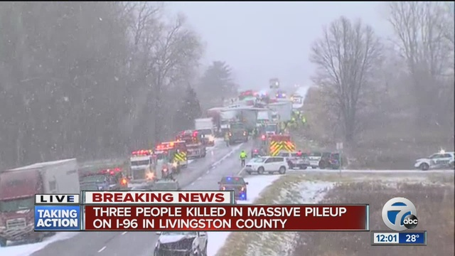 Fatalities Reported In Pileup That Has Closed I-96 Near Fowlerville