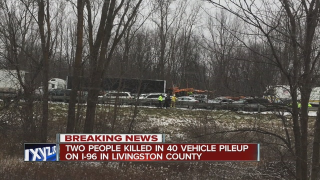 Two people killed after dozens of vehicles involved in crash on I-96 WB                      WXYZ