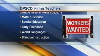 DPS is recruiting teachers at a job fair
