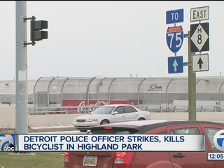 Officer hits, kills bicyclist in Highland Park