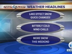 FORECAST: Cold air and snow showers