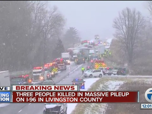 Three people killed in I-96 accident