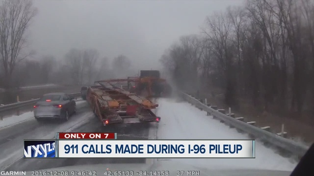911 calls released in deadly I-96 accident