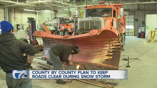 County crews get ready for winter storm