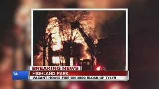 Firefighters battle house fire in Highland Park
