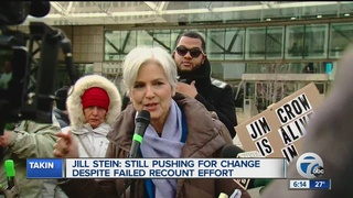 Jill Stein protests in Detroit over recount