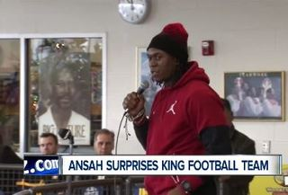 Ansah surprises King team with pizza party