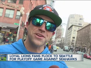 Lions fans flock to Seattle for playoff game