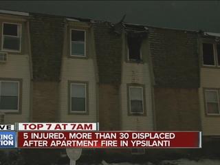 5 injured in Ypsilanti apartment complex fire