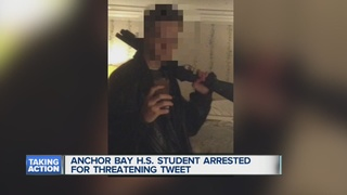 Student accused of tweeting threatening picture