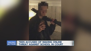 Teen accused of threatenting school faces judge