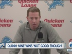 Quinn regrets something he said as rookie GM