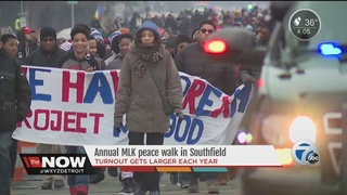 Hundreds honor MLK with Southfield peace march