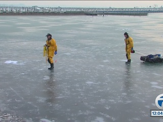 Man rescued from icy Lake St. Clair