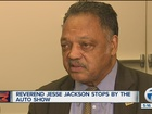 Rev. Jesse Jackson speaks in Detroit on Trump