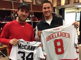 McCann, Fulmer visit Red Wings locker room