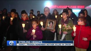 Vigil honors mother killed in Sterling Hts crash