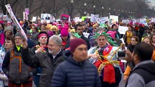 Thousands march across MI for women's rights