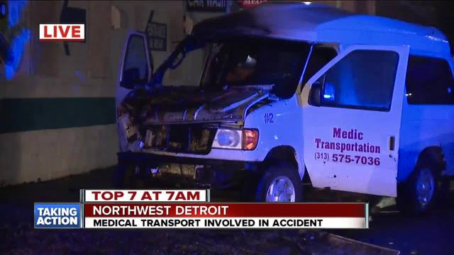 Medical transport involved in accident in Detroit