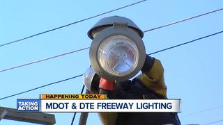 Freeway lighting improvements coming in Detroit