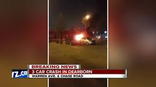 Fiery crash ends with vehicle split in half