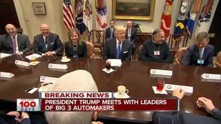 President Trump meets with Detroit auto execs