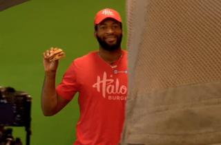 Drummond reveals his new Halo burger